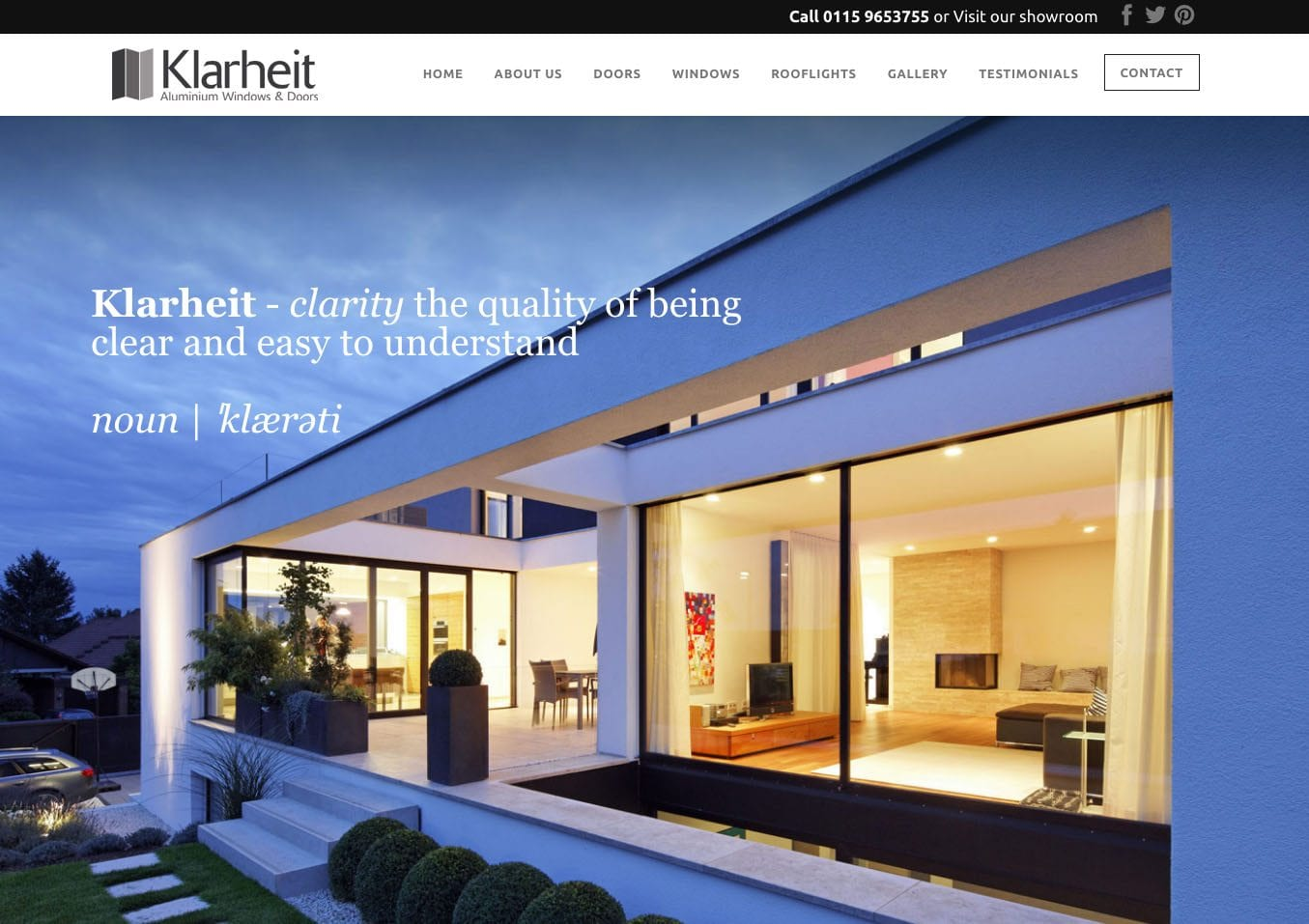 Westcoast Windows are pleased to welcome Klarheit as Distributor Partners for their Swedish composite windows and doors