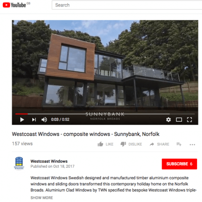 Westcoast Windows launches YouTube channel to feature our composite window products and projects