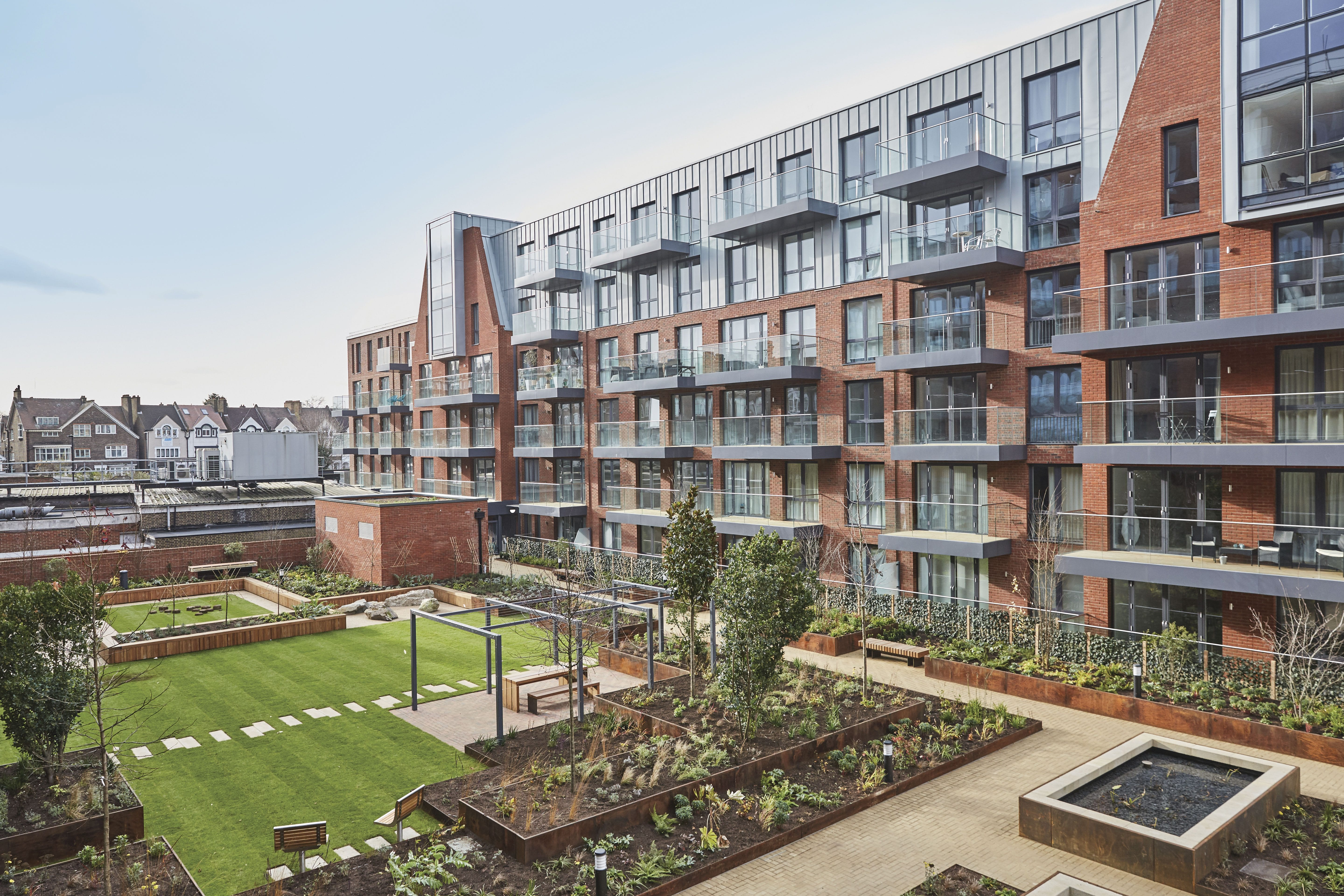 Westcoast Windows Swedish composite windows are the ideal energy saving glazing solution for this development of high specification apartments in Streatham Hill