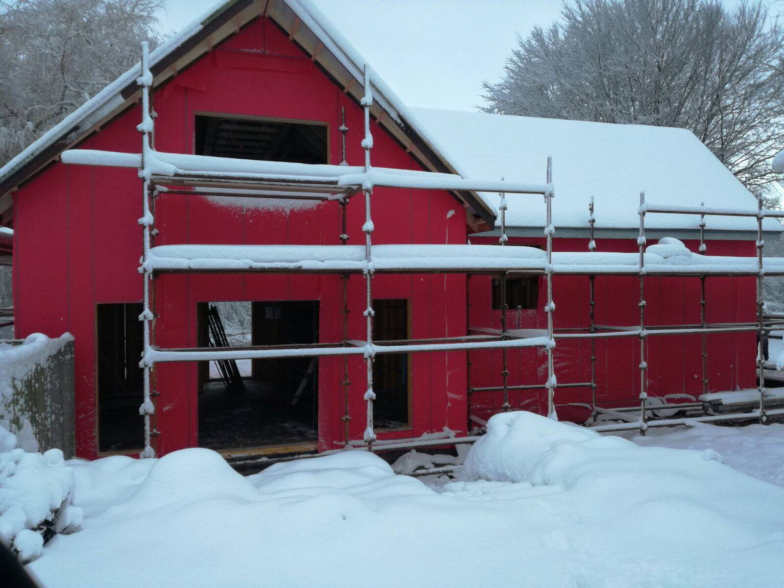 Distributor Partner Avista Windows prove they're ready to fit our Swedish composite windows in any weather