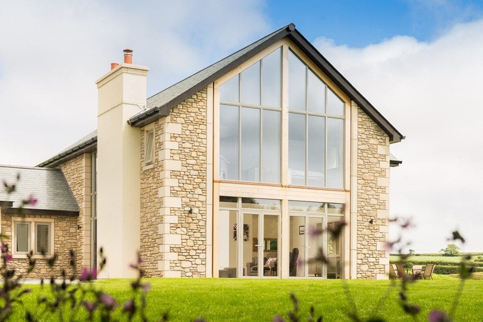 Westcoast Windows Swedish designed and manufactured composite windows are the ideal energy efficient glazing solution for this contemporary Eco house holiday home in Cornwall