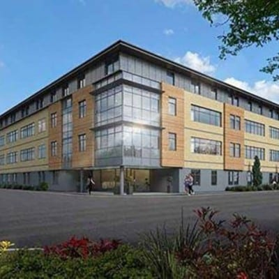 Westcoast Windows supplies high performance Swedish composite windows for commercial development of office conversions into residential properties