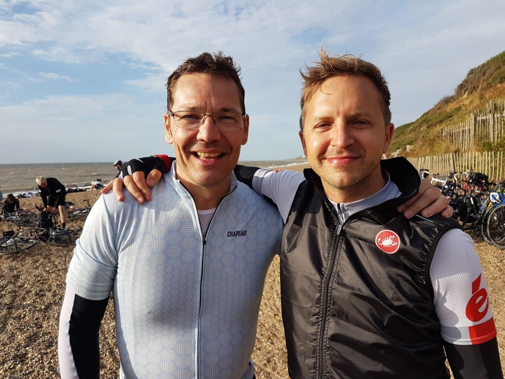 Andrew and James take to their cycles for the Dunwich Dynamo 200km night ride