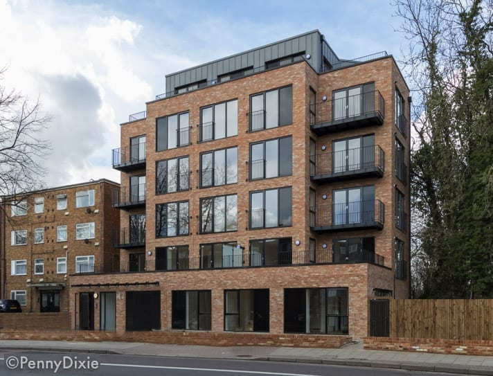 Westcoast Windows supply Swedish composite windows for new build of 17 apartments in East London