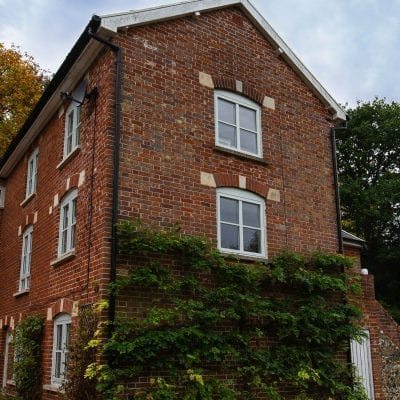 Westcoast Windows supply and fit Swedish composite windows for three storey period cottage in Suffolk
